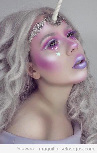 Maquillaje fantasía unicornio