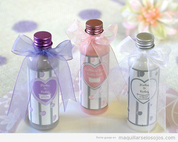 Detalles de boda burbujas baño