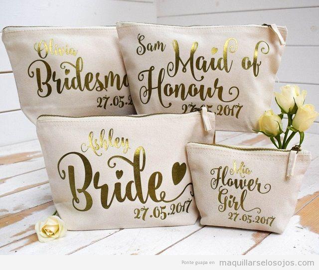 Detalles de boda neceser