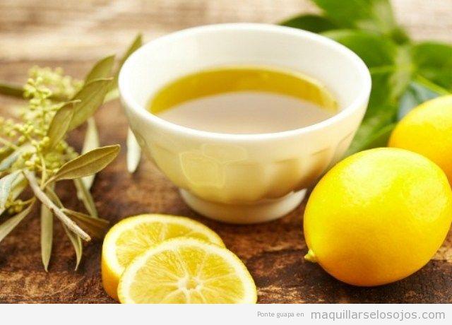 Mascarilla facial casera de oliva y limón