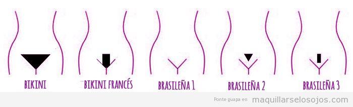 Tipos depilación íntima bikini