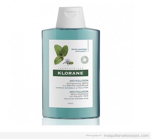 Champú Anti-polucion Detoxificante a la Menta Acuática Klorane