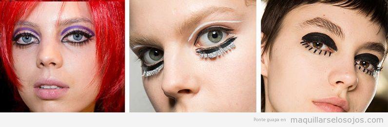 Tendencias maquillaje de ojos otoño invierno 2019, años sesenta