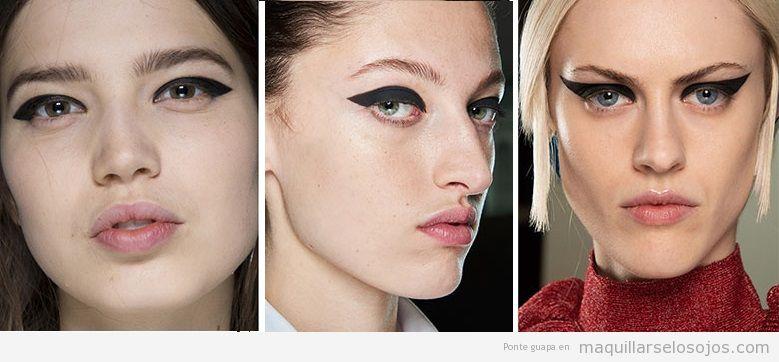Tendencias maquillaje de ojos otoño invierno 2019, eyeline enorme