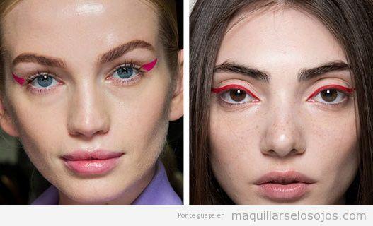 Tendencias maquillaje de ojos otoño invierno 2019, eyeliners colores