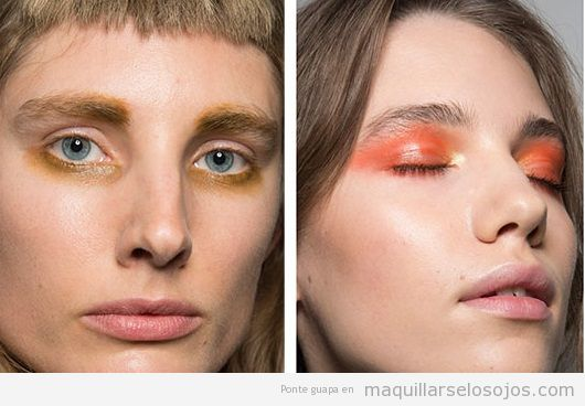 Tendencias maquillaje de ojos otoño invierno 2019, párpados glossy
