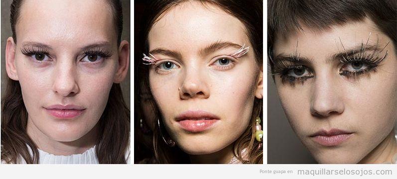 Tendencias maquillaje de ojos otoño invierno 2019, pestañas postizas