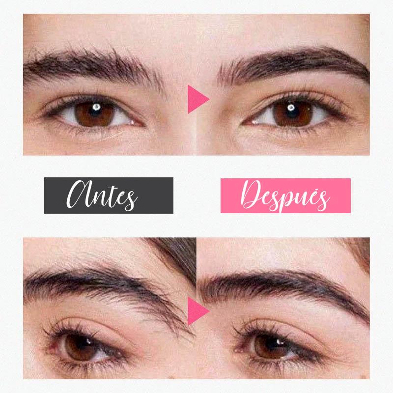 Depilación de cejas antes y después