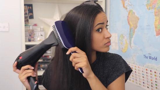 Peinado para videollamada con pelo alisado