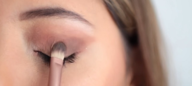 Pincel maquillaje de ojos cabeza plana