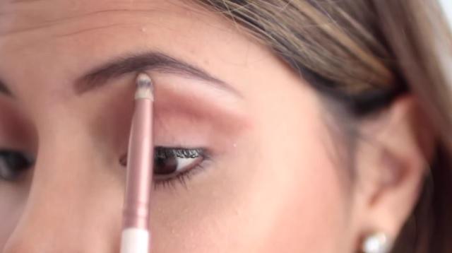Pincel maquillaje de ojos punta de lápiz