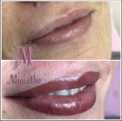 Micropigmentacion de labios, fuzzy lips