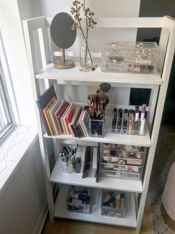 Estantería organizador de maquillaje