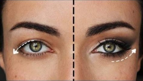 Maquillaje de ojos alado para disimular los párpados caídos